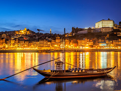 Porto At Night.JPG (Idlefrog Photo) Tags: reflection river landscape boat porto douro nightscene