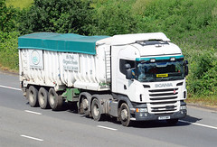 PX13 BWY. (curly42) Tags: truck motorway transport lorry artic m5 quinny roadhaulage px13bwy scaniabwy