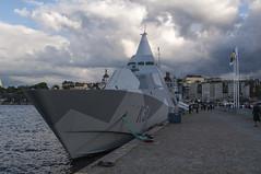 HMS Visby (K31) (P. Burtu) Tags: stockholm sweden sverige ship fartyg korvett frsvaret flottan marinen corvette stealth navy sommar summer water vatten sj mlaren lake clouds moln