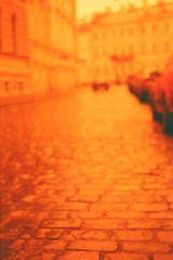 street after rain (JulianaKruz) Tags: road street film analog 35mm fed2 streetphoto konica analogphoto filmphoto redscale  analoque