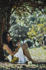 When everything around you is changing (Enrico Cavallarin) Tags: park flowers portrait tree green nature grass leaves fairytale garden 50mm nikon skin softness fairy intothewoods laying intothewild underthetree intothenature intotheforest