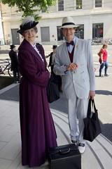 Violet Smith (Catherine Cooke) and Von Bork (Marcus  Geisser) - photo by Bob Ellis