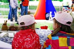 Ryijy: weaving wishes (Colonel Huey) Tags: public festival finland helsinki wishes anastasia weaving installationart maailmakylss ryijy artemeva