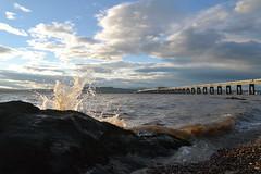 Tide and the Tay (cube core) Tags: tay rail bridge river sky cloud tide
