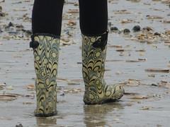Beach walk (willi2qwert) Tags: rubberboots rainboots regenstiefel gummistiefel gumboots girl wellies wellingtons wasser women wet water watt beach