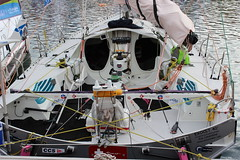 fourty feet fly's eyes boat (gerrygoal2008) Tags: elephant feet modern race speed boat fly sailing technology teddy racing adventure human le havre experience teddybear ganesh sail 40 sailor carbon maker babar transatlantic elie solitaire fourty transat exocet itaja canivenc carbonmaker