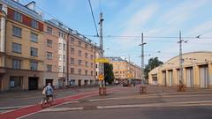 2016 Bike 180: Day 179,  July 25 (olmofin) Tags: 2016bike180 finland helsinki polkupyr pyrilij raitovaunuvarikko tl raitiovaunuhalli tram depot bicycle commuter mzuiko 918mm streetcar station