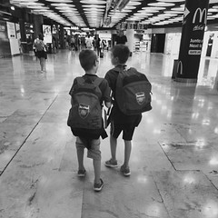 Finally home time... (robjvale) Tags: spain departing vacation holiday airport madrid iphone blackandwhite