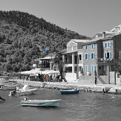 Assos,Kefalonnia GR (spiros_legenda) Tags: sea sky white black island amazing view greece colorsplash assos     kefalonnia