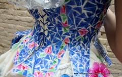Traje de fallera valenciana con material reciclado (425) (Reciclado Creativo - The Reuse Factory) Tags: coffee caf valencia de monumento plastic bags creatividad capsules fallas fallera botellas reciclado cpsulas upcycling capsulas botellasdeplstico fallas2015 ecofallera