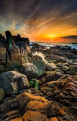 The Trap (paulosilva3) Tags: sunset seascape beach portugal canon landscape eos rocks little cliffs lee filters stopper 6d polariser longexpos