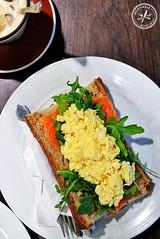 Free range scrambled eggs, $15 (insatiablemunch) Tags: breakfast sydney breadrolls sydneycbd restaurantreview tastebaguette