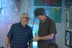 Slaid Cleaves at the Artizen, April 16, 2015 (talltownes) Tags: music nikon texas live singer acoustic tall midland cleaves songwriter townes artizen slaid d7000 talltownes