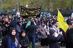 Muslim Crowd (Kombizz) Tags: uk people london justice massacre muslim islam faith religion crowd banner battle tragedy shia muharram ashura hydepark thirst karbala pilgrim resistance marblearch tyranny umayyad imamali martyrdom caliph yazid prophetmuhammad sufyan allahuakbar 5507 pbuh imamhussein peacebeuponhim ziaratashura muslimpeople ahlulbait ziyarat ziarat umayyads shimr battleofkarbala ahlalbayt muslimummah kombizz 10thofmuharram shiamuslims shiitemuslims umayyadcaliph shimribnthiljawshan husaynibnalibnablib  muslimcrowd imamzainulabedin muawiayh umaribnsad alialasghar imamalizainulabideen saiydushshohada banuumayya thiljawshan yaabaabdillahalhussain imaamhussain ziyaratashura muharram1435