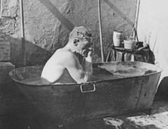 Old Meadows Colliery, Bacup. Roy Sanderson in tin bath 1968 (Pitheadgear) Tags: pits mine pit lancashire mines coal miner miners colliery rossendale charbon coalminers coalmining kohlen tinbath bacup driftmine collieries coalindustry puitsdecharbon