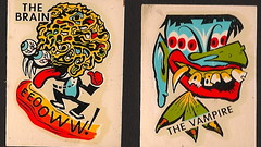 1960's The Brain/The Vampire Impko Decals (Donald Deveau) Tags: vampire brain monsters decal transfer impko