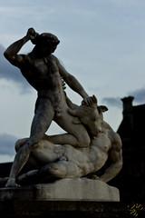 Vaincu (Thierry Poupon) Tags: paris statue tuileries vaincu minotaure thse