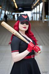Bombshell 50's Batwoman (AJ Charlton Photography) Tags: london art comics aj photography march dc nikon comic cosplay ant super batman lucia 50s con excel bombshell lscc ajc charlton batwoman 2015 d90