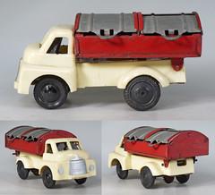 WBT-527-Refuse-B (adrianz toyz) Tags: wells brimtoy pocketoy tinplate plastic toy model truck bedford s refuse garbage dustcart adrianztoyz