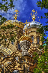 St. Petersburg church of the Kiev Pechersk Lavra (now of the Optina Hermitage ) (filchist) Tags: church st stpetersburg gold cross russia petersburg bluesky hermitage now domes kiev lavra kievpechersklavra pechersk optina 18951900 vasiliykosyakov   optinahermitage bronisawprawdzik