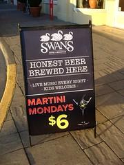 Martini Mondays (knightbefore_99) Tags: music sign bar pub bc drink live olive martini victoria cocktail swans vodka local gin pandora mondays