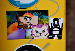stickers (wojofoto) Tags: streetart amsterdam stickerart stickers gato wojo veka blor wolfgangjosten wojofoto