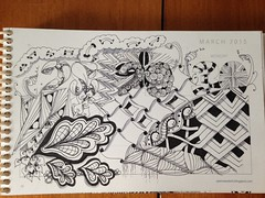"""#zentangle #tangleAday #calendar • <a style=""""font-size:0.8em;"""" href=""""http://www.flickr.com/photos/14001409@N08/17011842315/"""" target=""""_blank"""">View on Flickr</a>"""
