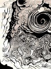 Study of Tiger of Genkosai by Nicole Sofía (India ink and microfiber on paper)  https://www.facebook.com/nicolofia?ref=hl (Nicole Sofía) Tags: china india art argentina illustration ink japanese arte drawing buenos aires tiger arts illustrations drawings visuals visual dibujos dibujo artes tigre tinta ilustracion japonism ukiyoe ilustraciones visuales microfiber ukiyo microfibra nicolofia genkosai