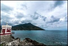 (Roby_wan_kenoby (the only one)) Tags: blue sea italy panorama lighthouse verde green nature clouds canon landscape faro eos italia nuvole mare campania blu natura sapri suditalia 450d