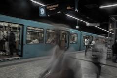 Underground (marionrosengarten) Tags: station underground subway nikon metro frankfurt ghost ubahn geist langzeitbelichtung