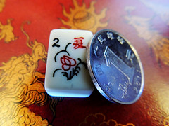 Gambling (Rosa Koyuki) Tags: gambling game macro coin dragon yuan mahjong macromondays smallerthanacoin
