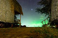 Bungalows (free3yourmind) Tags: travel sky beach night stars thailand island holidays view koh lanta bungalow