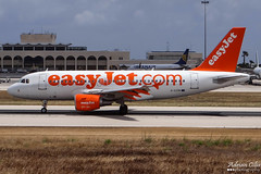 EasyJet --- Airbus A319 --- G-EZIN (Drinu C) Tags: plane aircraft aviation sony airbus dsc easyjet mla gezin a319 lmml hx100v adrianciliaphotography