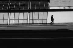 Out of the shadow (MobilShots) Tags: street city urban blackandwhite monochrome outside fuji shadows outdoor hamburg fujifilm xt1 vsco
