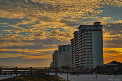 Evening Clouds (Stuart Schaefer Photography) Tags: travel sunset sky seascape beach skyline clouds landscape outdoors day florida outdoor dusk shoreline shore condos cloudscape navarrebeach sonyalpha sonya7rm2