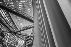 Mirando hacia las alturas (cmarga28) Tags: city bw digital photography tokyo nikon raw foto capital ciudad construccion d750 urbano perspectiva cristal japon moderno artistico acero estructura bello