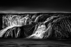 Ominous (bprice0715) Tags: blackandwhite bw nature beautiful beauty contrast canon dark landscape blackwhite waterfall moody ominous highcontrast naturephotography landscapephotography beautyinnature cohoesfalls canoneos5dmarkiii canon5dmarkiii