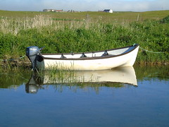Boat (stuartcroy) Tags: beautiful blue bay beach brown orkney island water weather white waves reflection green