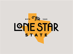 The Lone Star State (Tee) by Steve Wolf (inspiration_de) Tags: yellow identity lettering typo branding logotype logodesign