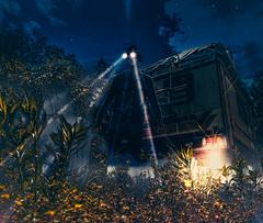 RetroVision (ThibaultPoriel) Tags: france abandoned night lights europe decay bretagne olympus retro exploration steampunk urbex campingcar