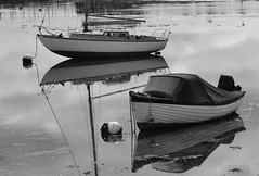 May Emsworth (Olivia Darby) Tags: blackandwhite water reflections boats moorings emsworth