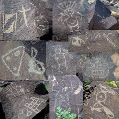 rock art sampler (rovingmagpie) Tags: newmexico composite sampler albuquerque petroglyph rockart petroglyphs petroglyphnationalmonument