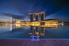Marina Bay Sands (ystan) Tags: colour reflection tourism weather marina sunrise bay sands ais20mmf28