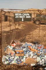 Recycling in the Wild - 25th June 2015 (princetontiger) Tags: wild nationalpark bottles marathon cage plastic recycling waterbottles lewa lewaconservancy safaricommarathon lewamarathon lptranslation
