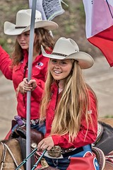 HI0A4880 (fotodan57) Tags: red people horse white cute beautiful hat shirt canon hair skinny outside outdoors nice outdoor awesome country young jeans blond cowgirl transportion