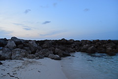 'Total Bliss' ii. (miranda.valenti12) Tags: blue sunset sky cloud water rock clouds island sand paradise sandy horizon footprints rocky line clear footsteps bahamas total bliss footprint