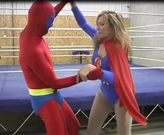 AtomicWoman (Spandxcomics) Tags: tights cape supergirl spandex lycra leotard superwoman superheroine