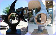 MAGIC FISH (front and back) by Adam Schultz (Visual Images1) Tags: sculpture fish diptych siouxfalls sculpturewalk