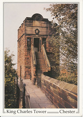 Photo of postcard of King Charles Tower, Chester, England