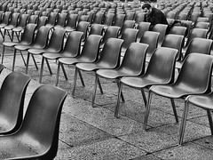 chairs (Maurizio Targhetta) Tags: city people blackandwhite bw man alone chairs citylife streetphotography minimalism urbanlandscape